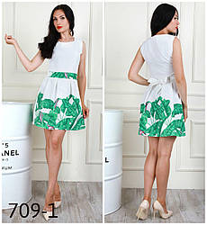 Нежное красивое платье-клеш с отрезной талией, 42,44,46
