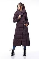 Пуховик женский коричневый зимняя длинная куртка зима 2020, размеры 42-54, фото 3