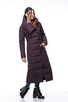 Пуховик женский коричневый зимняя длинная куртка зима 2020, размеры 42-54, фото 2