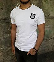 Мужская футболка белая Calvin Klein ( реплика )