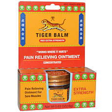 Tiger Balm, Экстрасильная обезболивающая мазь для суставов 0 63 унций (18 г),