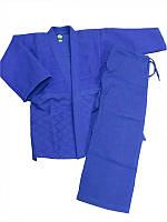 Кимоно дзюдо синее MATSA (Combat) MA-0015 (x-б, р-р 0-6 (130-190 см), плотность 450г на м2) 44-46 / 160 см. Синий