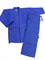 Кимоно дзюдо синее MATSA (Combat) MA-0015 (x-б, р-р 0-6 (130-190 см), плотность 450г на м2) 46-48 / 170 см. Синий