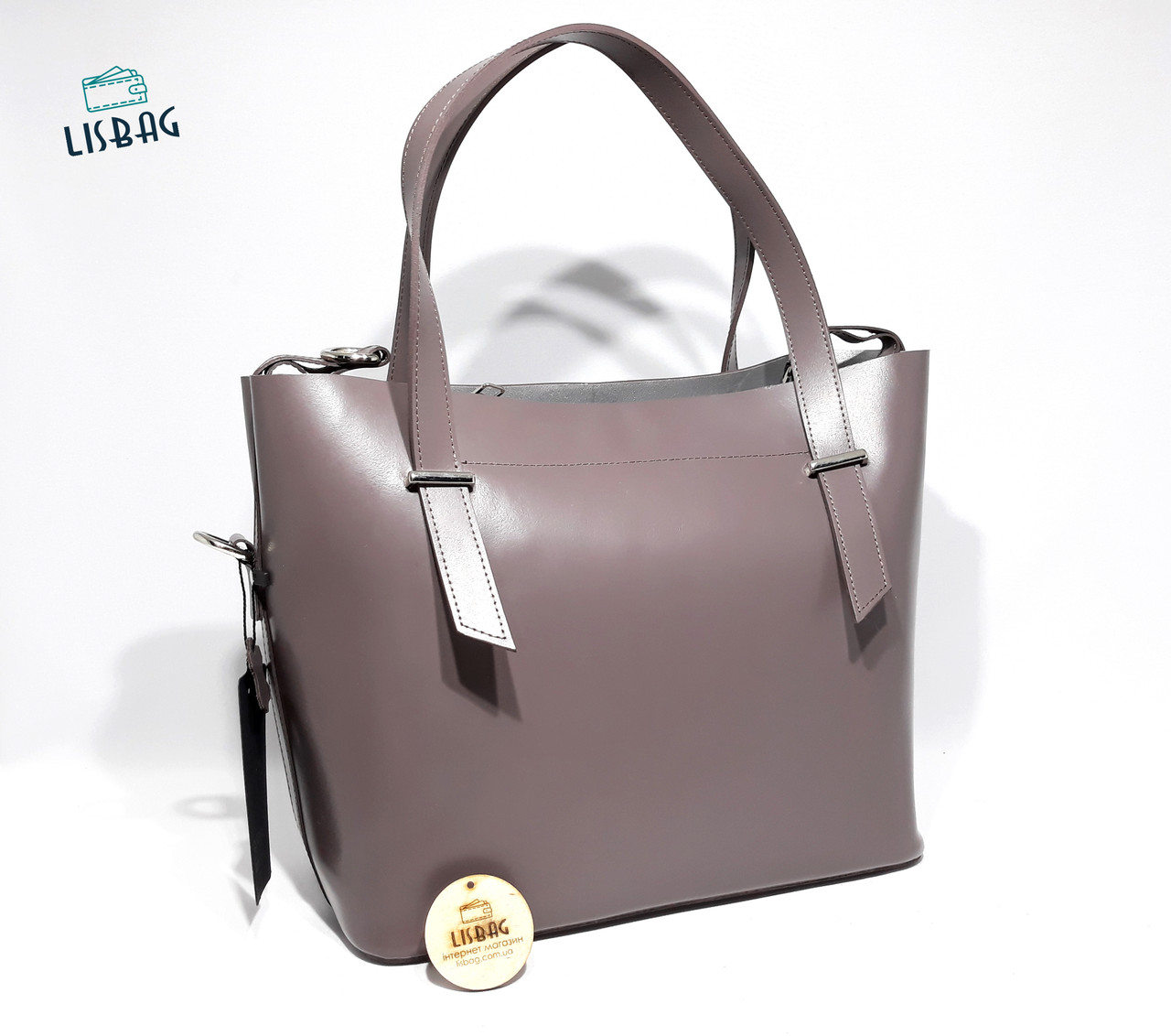 3329e455bad6 Женская сумка из натуральной кожи (Италии) модель 2018 года Фиолетовая, ...