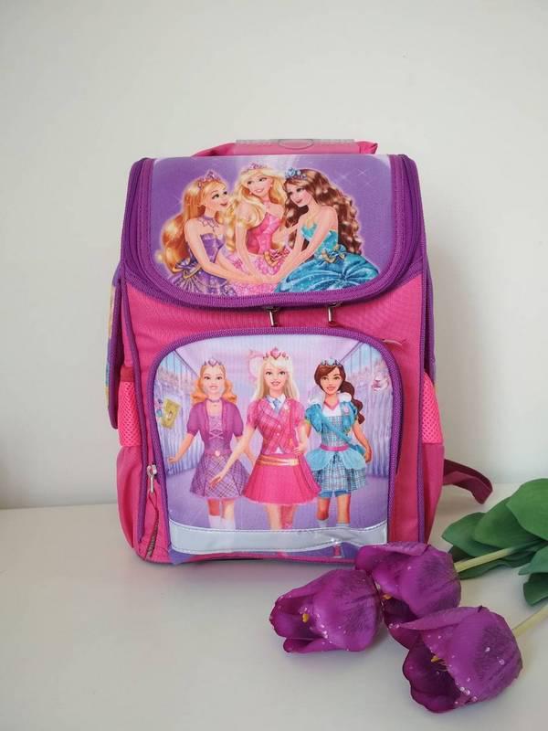Ортопедический каркасный рюкзак для девочки Барби, фото 1