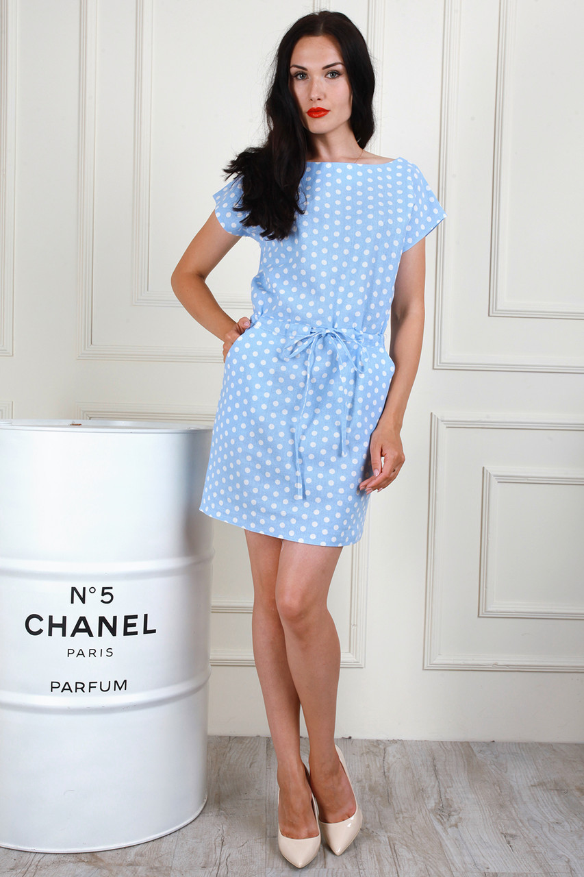Легкое летнее платье с карманами, 42-44, 46-48, 50-52