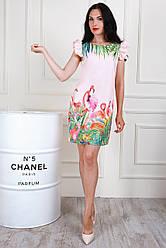 Молодіжне плаття з яскравим принтом, 44,46,48