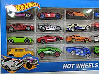 Великий набір металевих машинок серії Хот Вілс (Hot Wheels), 20 шт., подарунковий набір в коробці, фото 1