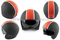 Шлем открытый   (mod:062) (size:XL, черно-красный матовый, солнцезащитные очки)   LS2
