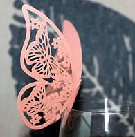 Рассадочные карточки - Декор для бокала «Бабочка»лиловая