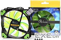 Вентилятор ProLogix 120*120*25 32 Green LED 3+4pin (PLF-SB120G4) BOX (PLF-SB120G4)
