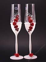 Свадебные бокалы красного цвета