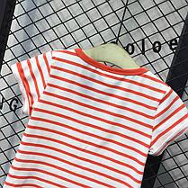 Детская полосатая футболка с рисунком, фото 2