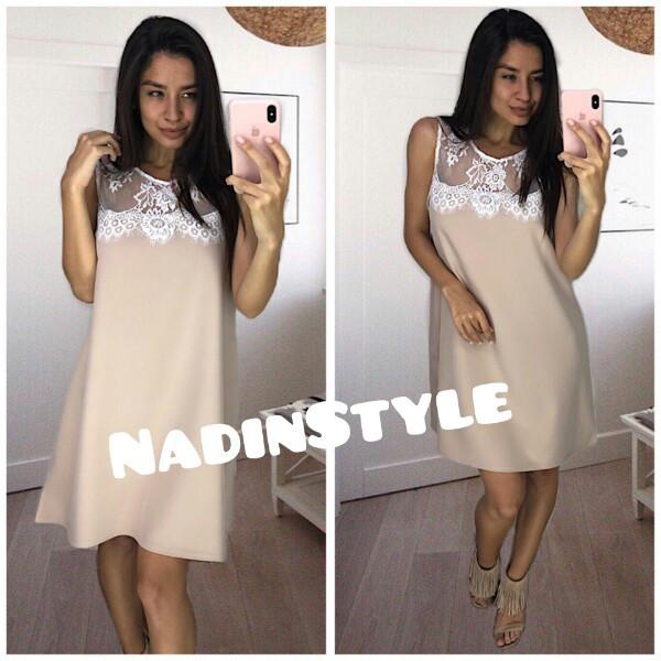 0f0de244a3f Купить Женское прямое платье с кружевом в расцветках tez44031634 ...