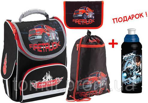 2b753a930c78 Комплект. Рюкзак школьный каркасный Firetruck K18-501S-1 + пенал + сумка,