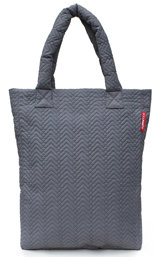 Женская стеганая сумка Poolparty ns3-darkgrey-fir серая