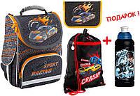 """Комплект. Рюкзак школьный каркасный Sport racing K18-501S-2 + пенал + сумка, ТМ """"Kite"""""""
