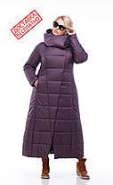 Женская модная зимняя очень теплая куртка пуховик длинная 42 - 54 большие размеры, фото 3
