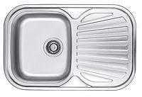 Прямоугольная кухонная мойка Fabiano 74х48 нержавеющая сталь, сатин, фото 1