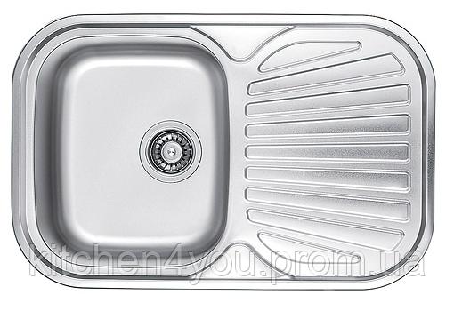 Прямоугольная кухонная мойка Fabiano 74х48 нержавеющая сталь, микродекор