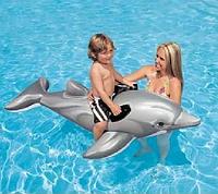 """Детский надувной плотик """"Дельфин"""" Intex 175х66 см."""