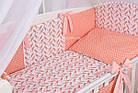 Комплект постельного бнлья Asik Коралловые птицы с помпонами 8 предметов (8-254), фото 2