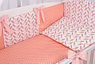 Комплект постельного бнлья Asik Коралловые птицы с помпонами 8 предметов (8-254), фото 8