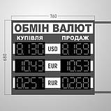 Табло обмін валют 760х680 мм, фото 2