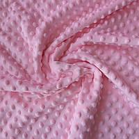 Плюш минки розовый, ширина 84 см, плотность 350 г/м, фото 1