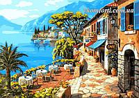 Раскраска по номерам Кафе у моря худ. Сунг, Ким (VP016) 40 х 50 см