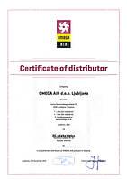 Сертификат Omega Air