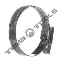 Хомут червячный 10-16 мм W2 стальной нержавеющий
