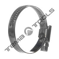 Хомут червячный 70-90 мм W2 стальной нержавеющий