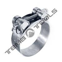 Хомуты силовые W2 нержавеющие одноболтовые стальные