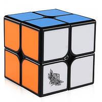 Кубик Рубика 2х2 Cyclone Boys Feizhi (Чёрный со вставками из цветного пластика)