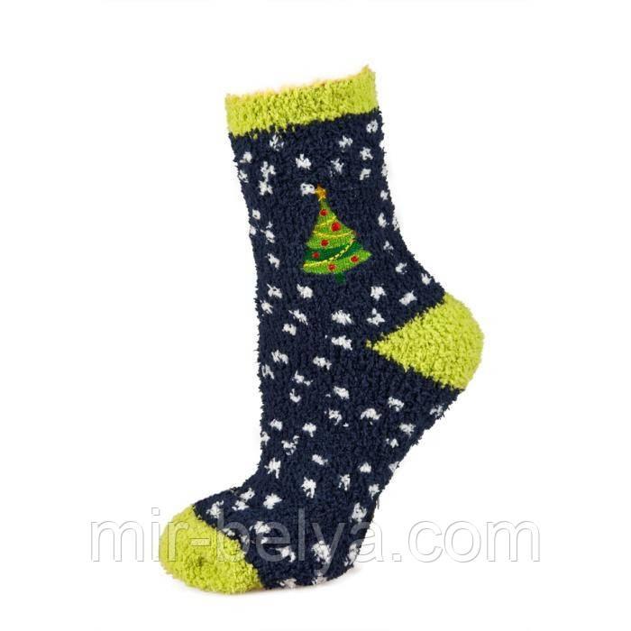 Женские махровые теплые новогодние носки SOXO
