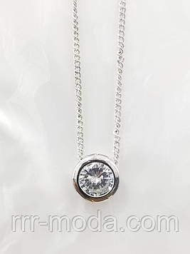 Кристаллики - кулоны 7 мм с цепочками оптом. 354