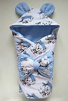 """Демисезонный конверт-одеяло на выписку """"Мишка-пират"""""""
