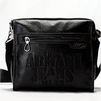 Мужская сумка на плече  Armani  черная