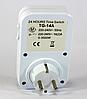 Розетка с таймером механическая суточная ТG 14A, программируемый, таймер, фото 3