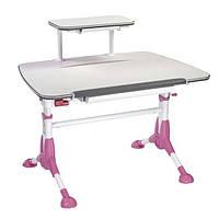 Детский письменный стол Mealux Pegas Pink с полкой