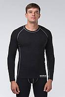 Термоджемпер мужской KIFA (ДМО-614 Ш) Черный, серая строчка