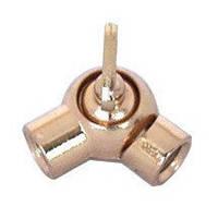 Шарнир наклонный с зажимом  (Copper polished)