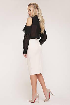 блуза  черная Джанина д/р GLEM, фото 2