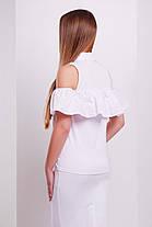 Блуза женская с открытыми плечами и воланом, фото 2