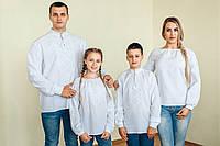 Комплект вишиванок для всієї родини (біла вишивка)