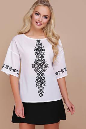 блуза GLEM Орнамент черный  Мирана к/р, фото 2