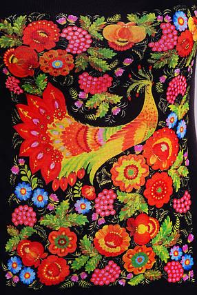 Майка женская черная с рисунком в украинском стиле , фото 2