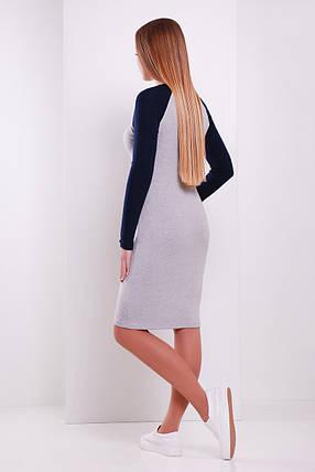 Платье женское облегающее до колен в спортивном стиле, фото 2