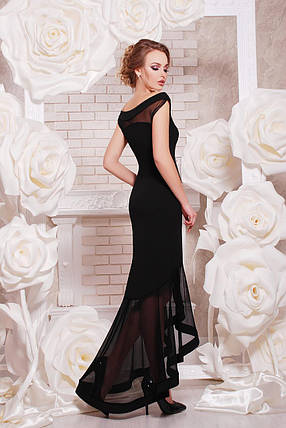 Платье женское в пол вечернее черное, фото 2